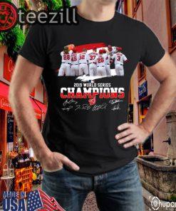 World Series Champions Washington Nationals Signatures Shirt