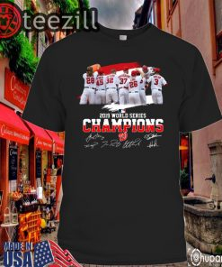 World Series Champions Washington Nationals Signatures Tshirt