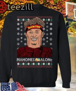 Xmas Showtime Mahomes Alone Christmas Sweatshirts
