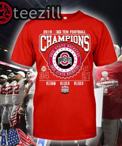 2019 Big Ten Football Champions Ohio State Buckeyes Shirts