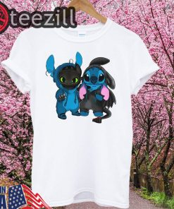 Baby Toothless and baby Stitch Kids T-shirt