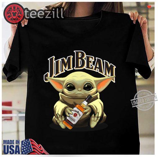 Baby Yoda Hug Jim Beam Gift Shirt