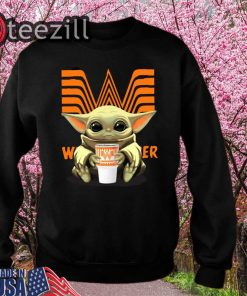 Baby Yoda Hug Whataburger Sweatshirts