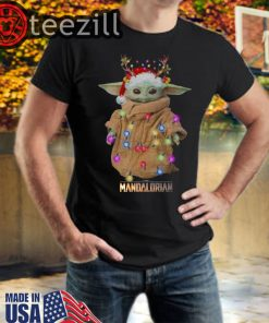 Baby Yoda The Child The Mandalorian Christmas TShirt