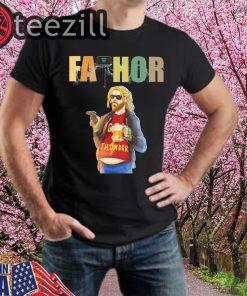 Fathor God Thunder Beer Belly Funny Fa Thor TShirt