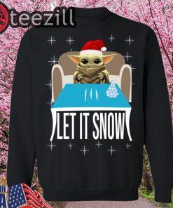 Let It Snow Shirt Cocaine Yoda Santa Shirt
