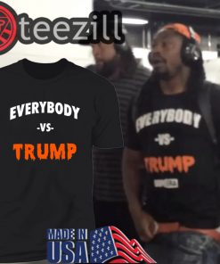 "Marshawn Lynch Dons ""Everybody vs. Trump"" Shirt Before"