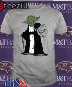 Master Yoda Brooklyn Nets White Shirt