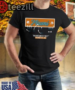 Miami Mountaineer Shot TShirt Limited Edition Official