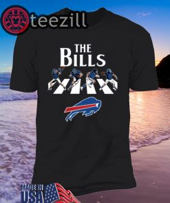 NFL Football Buffalo Bills The Beatles Rock Band TShirt