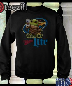 New Baby Yoda Hold My Miller Lite Shirt T-shirts