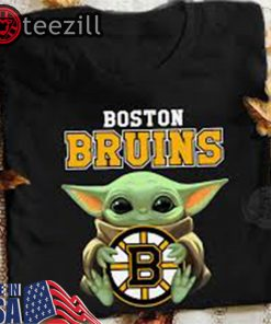 Official Baby Yoda Hug Boston Bruins Black Shirt