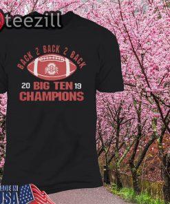 Ohio State Big Ten Champs 2019 Black 2 Black Shirt
