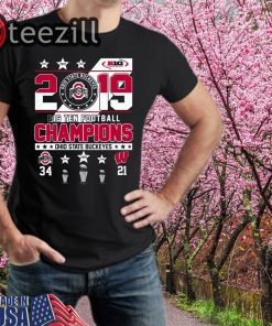 Ohio State Buckeyes 2019 Big Ten Football Champions Tshirts