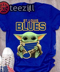 St. Louis Blues Logo Baby Yoda Hug Shirt