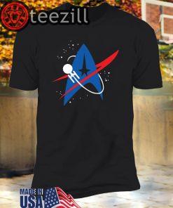 Star Trek Mixed Nasa Badge Classic Shirt