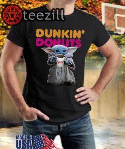 Star Wars Baby Yoda Dunkin' Donuts T-shirt