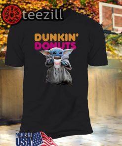 Star Wars Baby Yoda Dunkin' Donuts Tshirt
