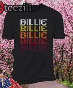 Vintage Style Billie Retro Wordmark Pattern T-shirt