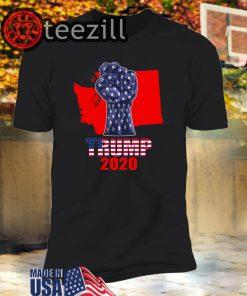 Washington For President Donald Trump 2020 Election Us Flag T-Shirt