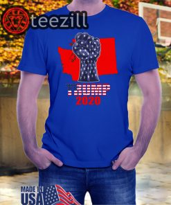Washington For President Donald Trump 2020 Election Us Flag T-Shirts