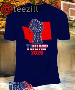 Washington For President Donald Trump 2020 Election Us Flag Unisex Shirt