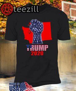 Washington For President Donald Trump 2020 Election Us Flag Unisex Shirts