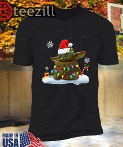 Xmas Santa Baby Yoda Light Shirt