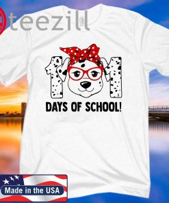 101 Days of School Dalmatian Dog Teachers Kids Gift T-Shirt