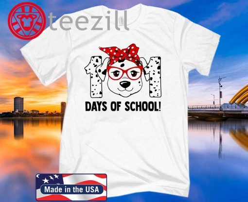 101 Days of School Dalmatian Dog Teachers Kids Gift T-Shirt