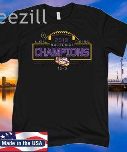 2019 National Champions LSU Tigers TShirt