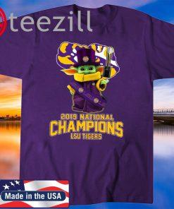 Baby Yoda 2019 National Champions LSU Tigers Tshirts