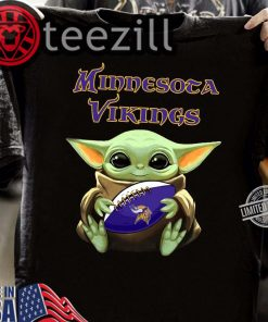 Baby Yoda Hug Minnesota Vikings Gift TShirt