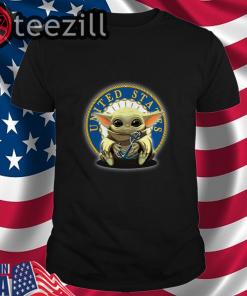 Baby Yoda hug United State Navy t shirt
