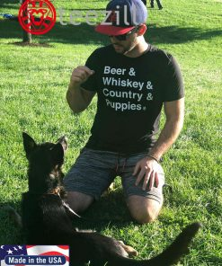 Beer & Whiskey & Country & Puppies Shirt