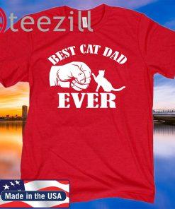 Best Cat Dad Ever 2020 Paw Fist Bump T-shirt