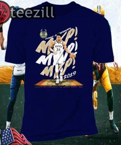 Giannis Antetokounmpo Milwaukee Bucks Fanatics Branded 2019 NBA T-Shirt