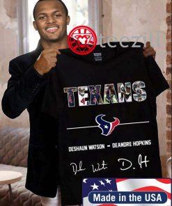 Houston Texans Deshaun Watson Deandre Hopkins Tshirt