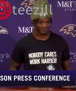 "Lamar Jackson "" Nobody Cares Work Harder"" Shirt"