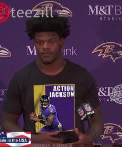 Lamar Jackson's 'Action Jackson' Tshirt