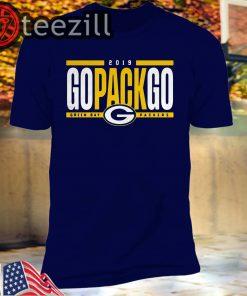 Logo Go Pack Go Green Bay Packers 2019 Tshirt