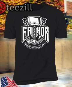 Mens Fathor World's Mightiest Dad - Funny Cool Viking Father Gift T-Shirt