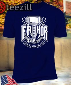 Mens Fathor World's Mightiest Dad - Funny Cool Viking Father Gift T-Shirts