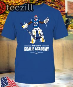 Men's Tre White Goalie Academy T-Shirt Women Kids