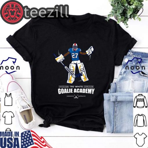 Official Tre White Goalie Academy Tshirt