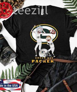Rick and Morty Green Bay Packers Tshirt