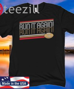 Run It Again George Kittle TShirt - Officially Licensed