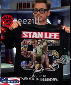 Stan Lee 95 Signatures 1922 2018 Thank You For The Memories TShirt