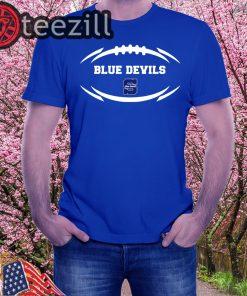 Stout Blue Devils Modern Football 2 Mascot Logo Shirt