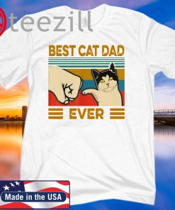 Vintage Best Cat Dad Ever Bump Fit WhiteT-Shirt